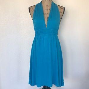 Elan Blue slinky Dress size small